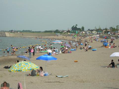 海老江海浜公園の海開きの画像