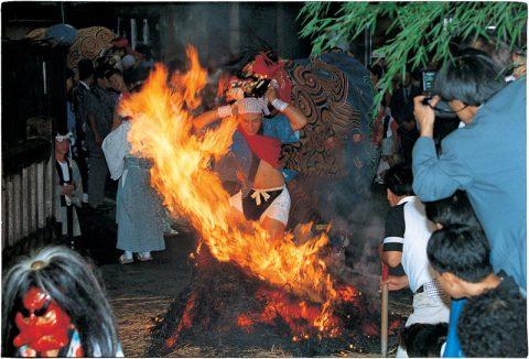 二口熊野社火渡り神事の画像